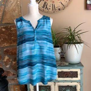 Sonoma Blue Sleeveless Blouse Large